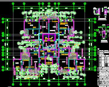 某高层商业楼及幼儿园全套施工图纸(含建筑结构水电暖)