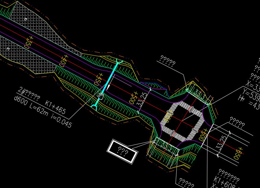 新城区市政道路工程设计图纸(含给排水、照明、绿化)
