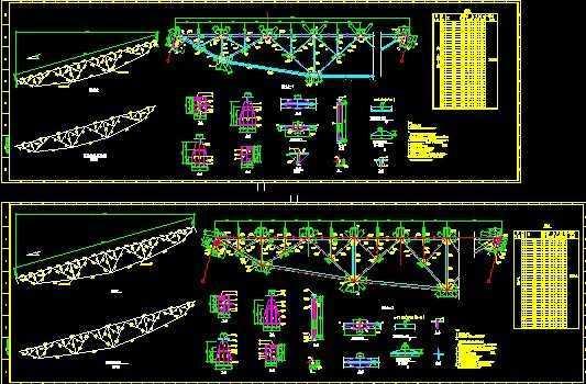 桁架及鱼腹式钢图纸(30m,24m)v桁架图纸免费下打为什么打印无法全栈桥图片