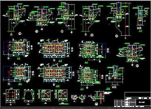 某电厂钢结构栈桥设计图纸