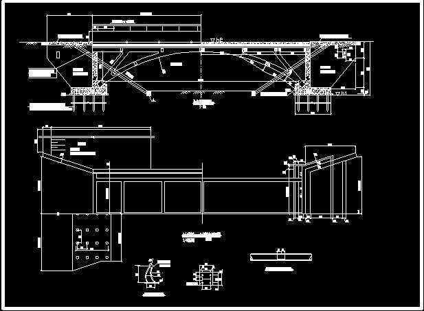 12M图纸拱桥v图纸电话免费下载-钢架桥梁汨罗市建筑设计院图纸图片
