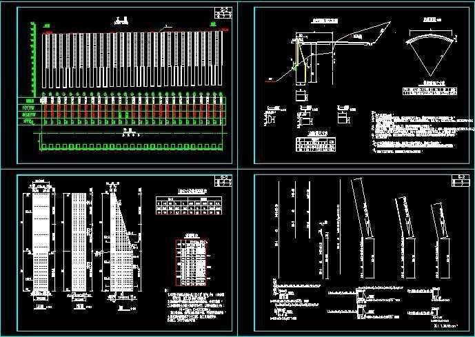 桩板墙施工图纸免费下载 - 桥梁图纸 - 土木工程网