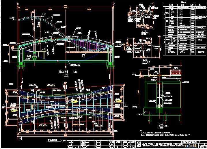 钢结构花桥设计图纸