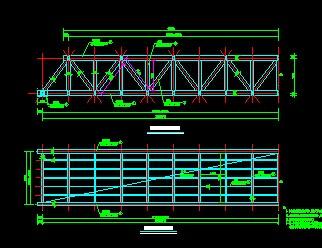 电缆桁架设计图图片