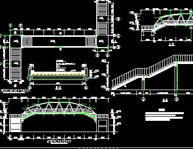 钢结构过街天桥施工图纸