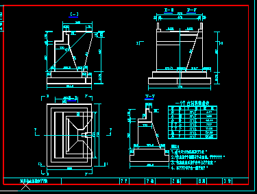 u型桥台扩大基础设计图纸