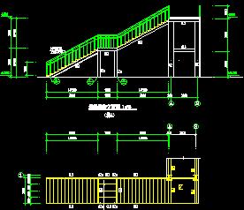 14.0m钢结构天桥设计图纸