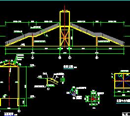 19米跨钢结构人行天桥设计图纸