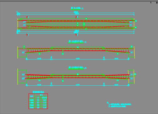 32+2x50+32m变截面预应力混凝土连续箱梁桥设计图纸