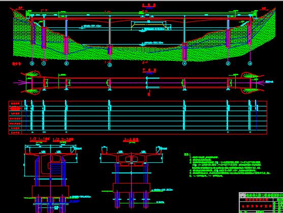 预应力混凝土刚构桥施工图纸