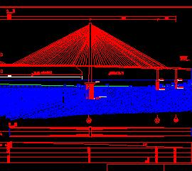 双塔双索面预应力混凝土斜拉桥施工图纸