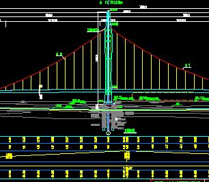 独塔两跨自锚式悬索桥桥梁施工图纸