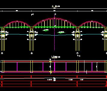 下承式钢管混凝土系杆拱桥施工图纸