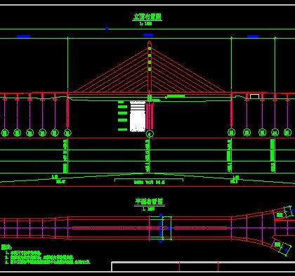 预应力混凝土连续梁独塔斜拉桥施工图纸
