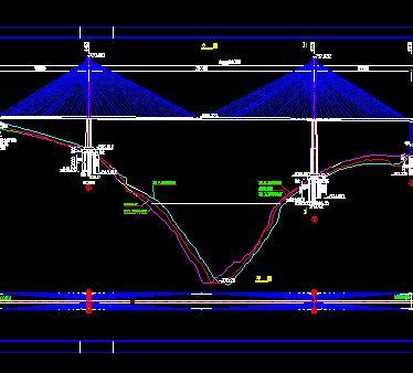 预应力混凝土斜拉桥梁施工图纸