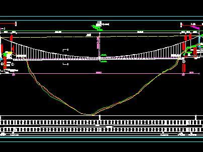 塔梁分离式悬索桥全套施工图纸