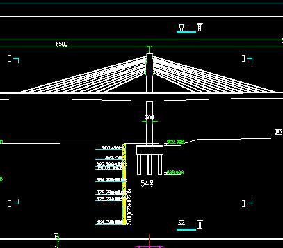 预应力混凝土双塔单索面矮塔斜拉桥施工图纸