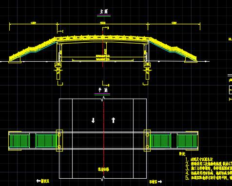 某大学人行天桥(钢箱梁)设计图纸