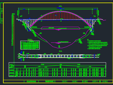 净跨460m钢管砼中承式悬链线拱桥设计图纸