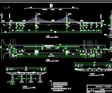 476.15米自锚式混凝土吊桥桥梁竣工图纸