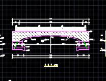 单跨简支梁景观桥建筑施工图纸