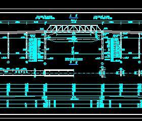 下承式简支预应力砼桁架人行桥全套施工图纸