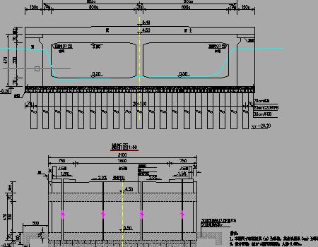 双孔8x3.3米钢筋混凝土箱涵设计套图