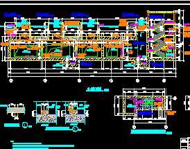 地下两层岛式地铁站施工图纸