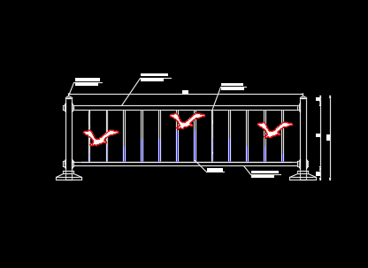 市政道路铁护栏标准图