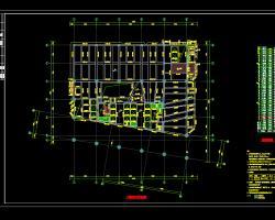 三十四层框筒结构办公楼结构施工图纸(含人防)