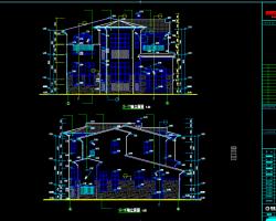 二��e墅建筑施工�D