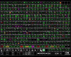 数百种树木CAD平面图例