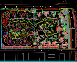某地区岛屿工程施工总图