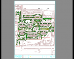 新古典居住区景观植物种植施工图纸