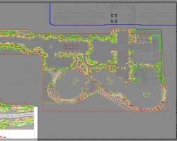 某公馆示范区景观植物配置设计图纸(含效果图)