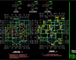 二层砖混结构别墅施工图纸