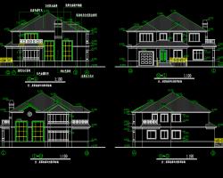 两层独栋别墅结构施工图纸