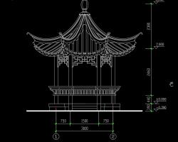 六角亭设计详图