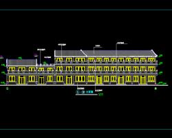 三层仿古商业街建筑施工图