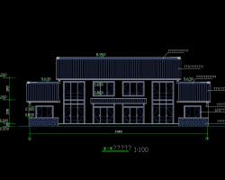 二层砖hun结构民宿建筑施工图(含结构图)