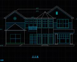 二层独栋平谷别墅建筑施工图(含效果图)