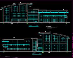 三层框架结构体育馆建筑shi工tu(含结构,水电暖tu)