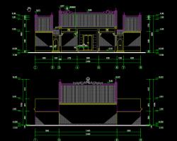 祠堂建筑施工图纸