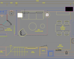 40�O二层轻奢loft住宅样板间装修施工图纸(含PDF格式)