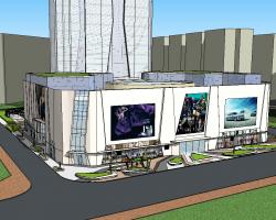 商业广场SketchUp模型