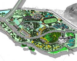 体育休闲广场景观SketchUp模型