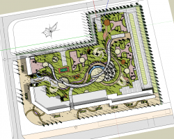 小区整体景观设计SketchUp模型