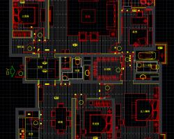 住宅样板间装修施工图纸(含效果图)
