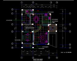 三层五居室别墅样板房室内装修施工图纸