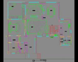 四层住宅样板房室内装修施工图纸(含效果图)